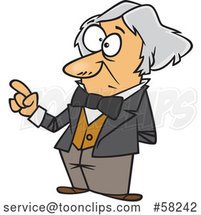 Cartoon Guy, Michael Faraday, Holding up a Finger by Toonaday