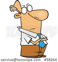 Cartoon Impatient White Businessman with Folded Arms by Toonaday