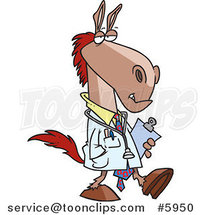 Cartoon Doctor Horse by Toonaday