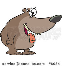 Cartoon Drooling Hungry Bear by Ron Leishman