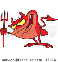 Cartoon Frog Devil by Ron Leishman
