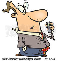 Cartoon Guy Holding a Dictaphone by Toonaday