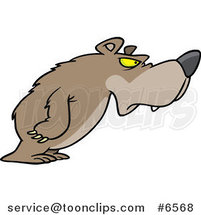Cartoon Disgruntled Bear by Ron Leishman
