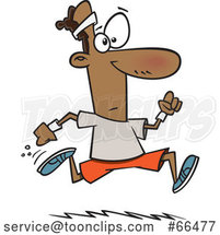 Cartoon Black Guy Running by Toonaday