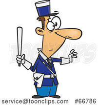 Cartoon Gendarme Officer by Toonaday