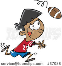 Cartoon Boy Catching a Football by Toonaday