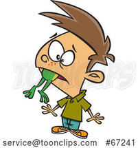 Cartoon Boy with a Frog in His Throat by Toonaday