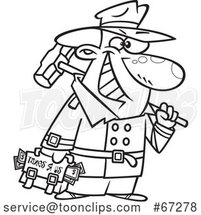 Cartoon Black and White Grinning Tax Goon by Toonaday
