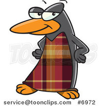 Cartoon Fashionable Penguin by Toonaday