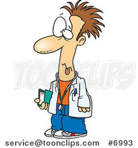 Cartoon Tired Med Student by Ron Leishman