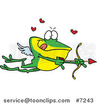 Cartoon Frog Cupid by Toonaday