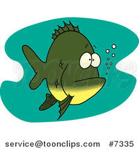 Cartoon Bored Fish by Ron Leishman