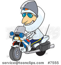 Cartoon Motorcycle Cop by Toonaday