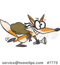 Cartoon Robbing Fox by Ron Leishman