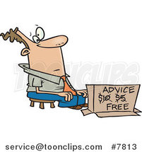 Cartoon Business Man Offering Free Advice by Ron Leishman