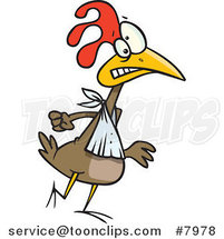 Cartoon Walking Chicken by Ron Leishman