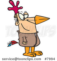 Cartoon Guy in a Chicken Suit by Ron Leishman