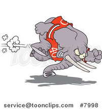 Cartoon Football Elephant by Toonaday