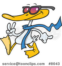 Cartoon Cool Duck by Ron Leishman