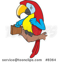 Cartoon Parrot Legal with a Briefcase by Toonaday