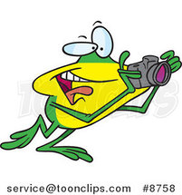 Cartoon Happy Photography Frog by Ron Leishman
