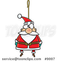 Cartoon Santa Ornament by Ron Leishman