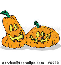 Cartoon Happy Jackolanterns by Ron Leishman