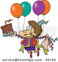 Cartoon Birthday Party Lady by Ron Leishman