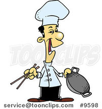 Cartoon Chinese Chef by Ron Leishman