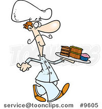 Cartoon Dessert Chef by Ron Leishman