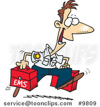 Cartoon Happy Paramedic by Ron Leishman