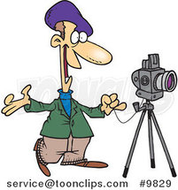 Cartoon Friendly Photographer by Ron Leishman
