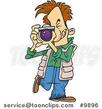 Cartoon Snappy Photographer by Ron Leishman