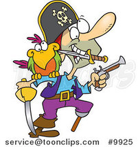 Cartoon Armed Pirate by Toonaday