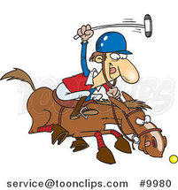 Cartoon Polo Player by Toonaday