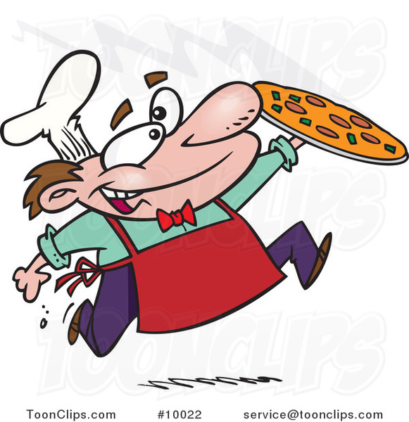 Cartoon Happy Pizza Maker