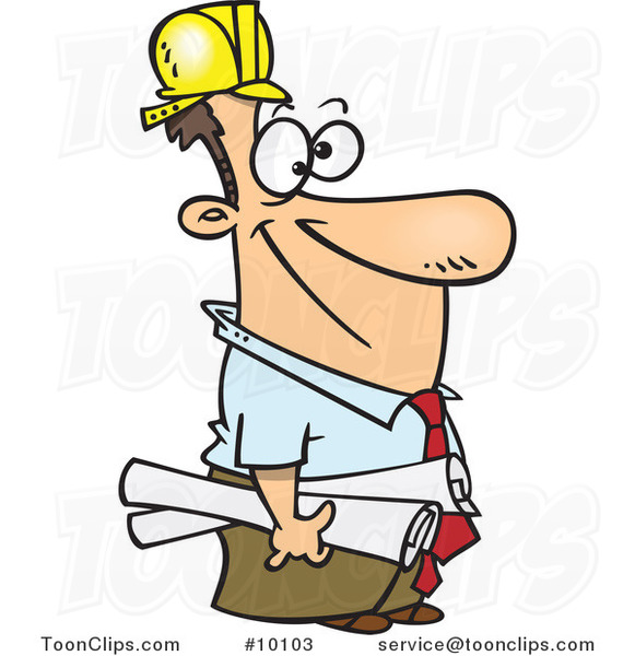 Construction Manager Cartoon : Cartoon construction manager by ron leishman