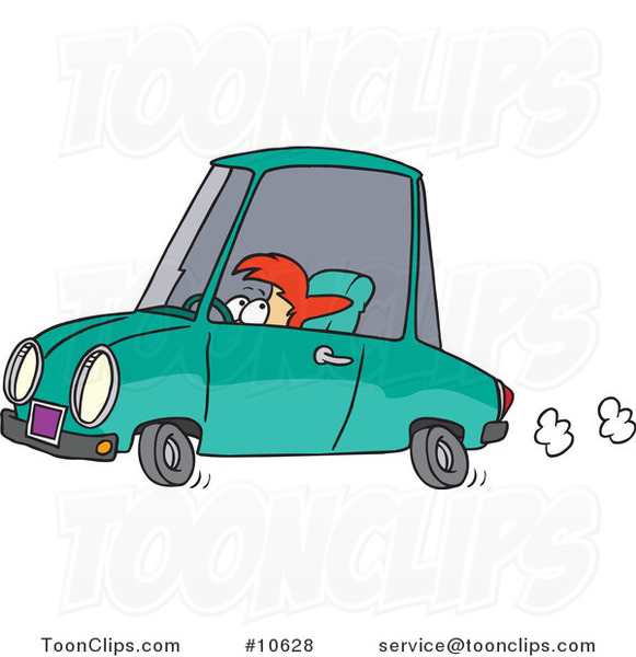Cartoon Short Lady Driving
