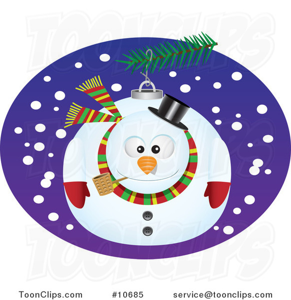 Cartoon Snowman Bauble