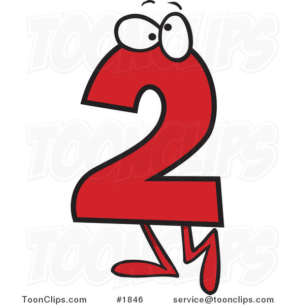 Free Pics Of Numbers, Download Free Clip Art, Free Clip ...  |Cartoon Number Two