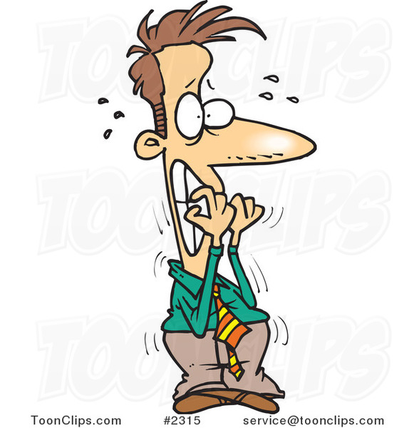 Cartoon Nervous Busine...