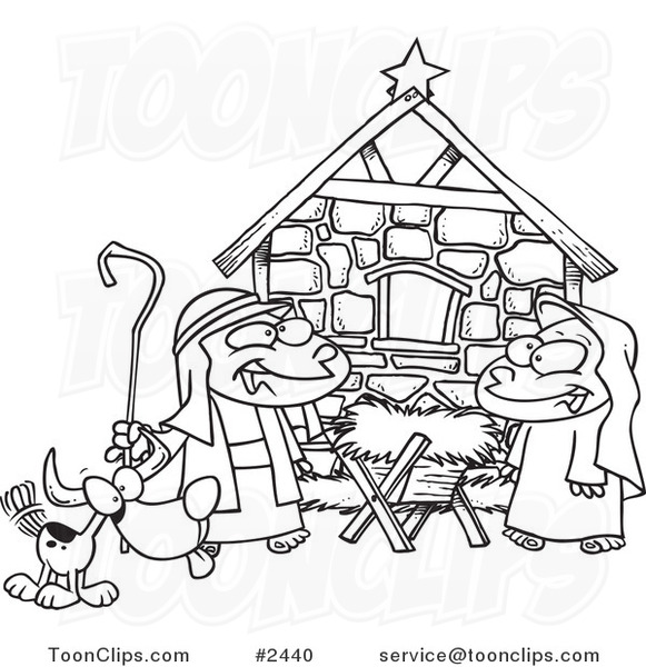 Displaying (17) Gallery Images For Nativity Black And White...