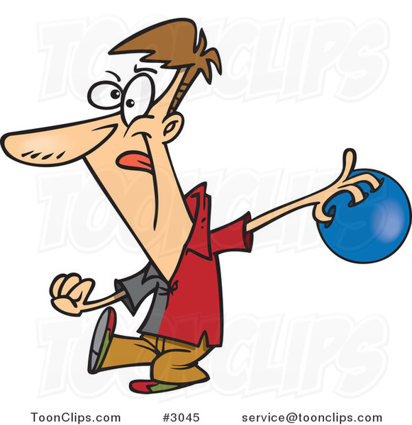 Bowling Cartoon Images Cartoon guy approaching a