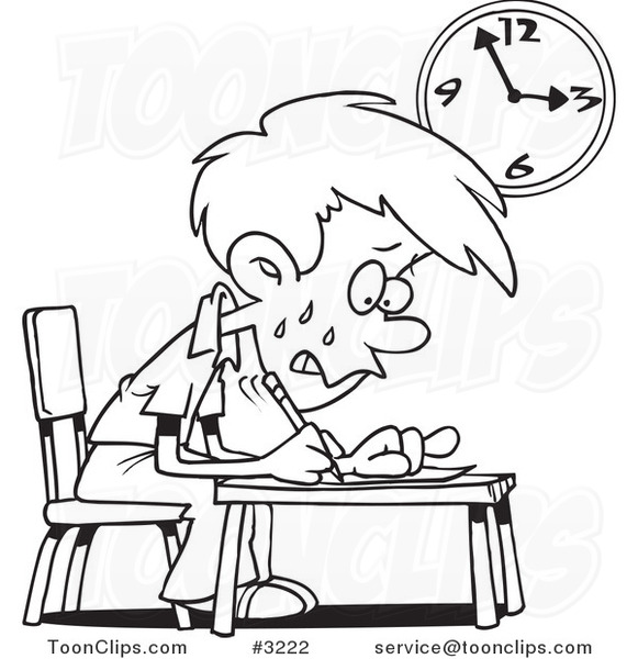 test anxiety clipart - photo #19