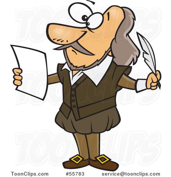 Cartoon Shakespeare Writing a Play #55783 by Ron Leishman