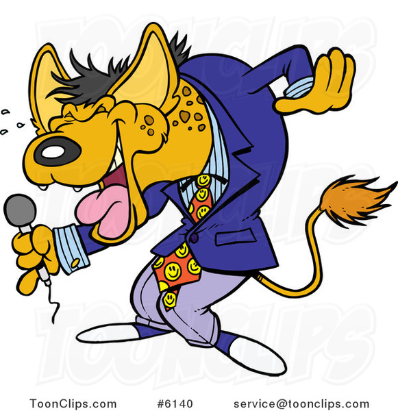 Cartoon Hyena Comedian Laughing