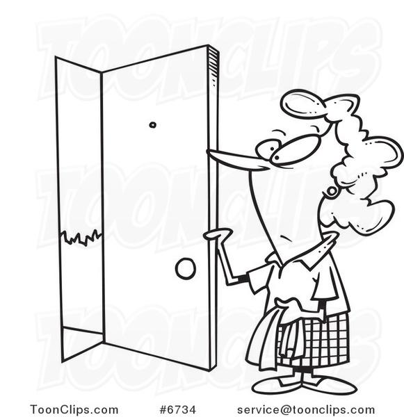 Door Opening Drawing my Sister Opened The Door