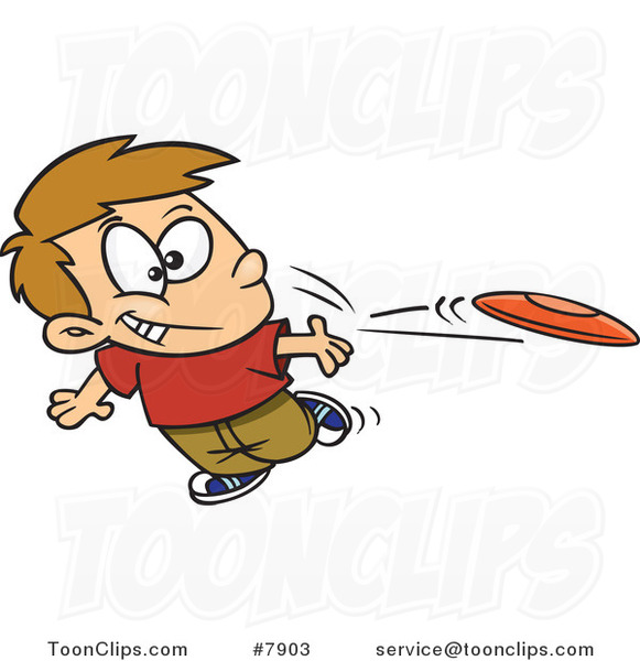 cartoon boy tossing a frisbee 7903 by ron leishman Funny Disc Golf Disc Golf Discs Graphics