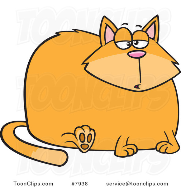 Cartoon Really Fat Cat
