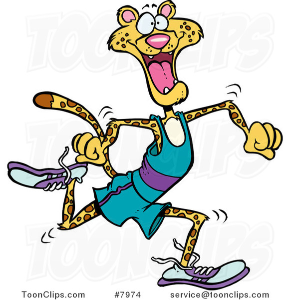 Runner Cartoon Cartoon runner cheetahs